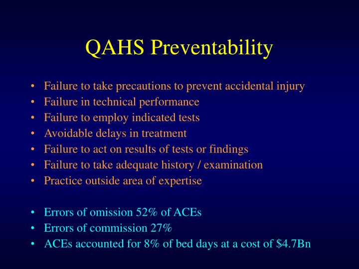 QAHS Preventability