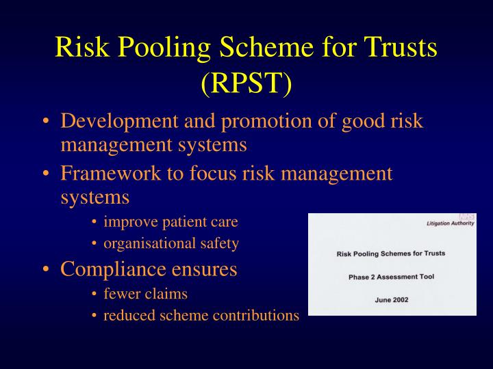 Risk Pooling Scheme for Trusts (RPST)