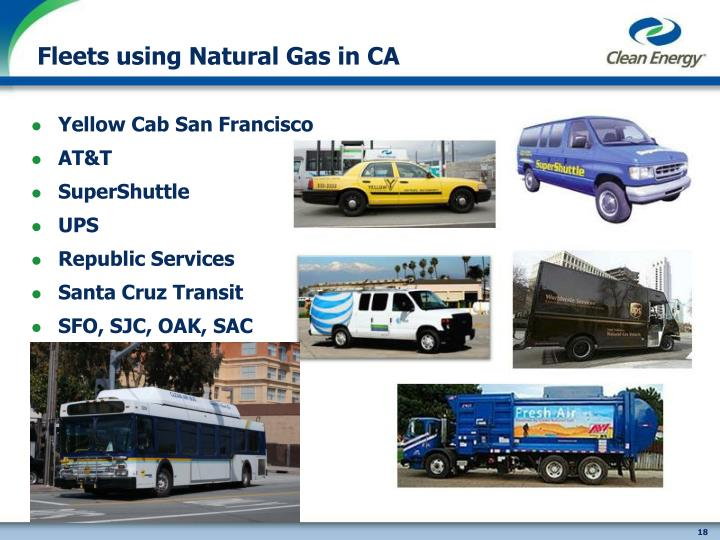 Fleets using Natural Gas in CA