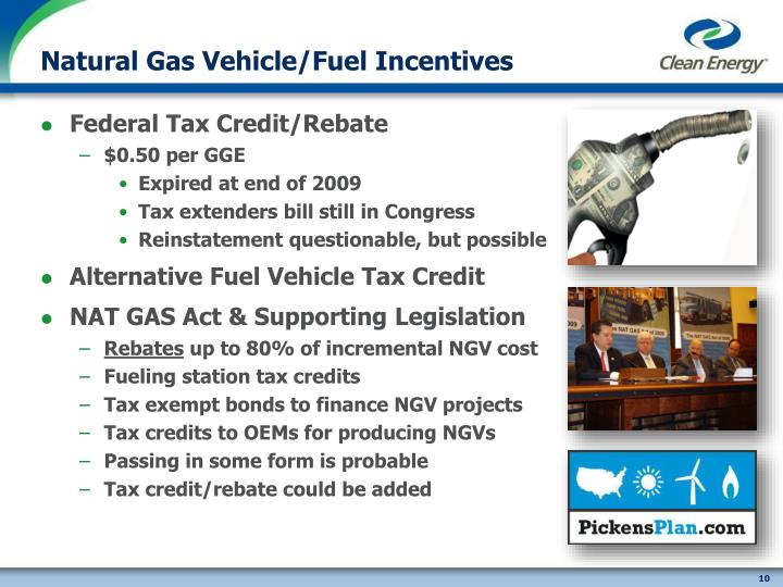 Natural Gas Vehicle/Fuel Incentives