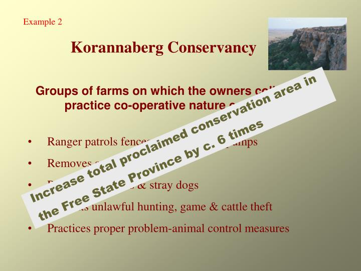 Groups of farms on which the owners collectively practice co-operative nature conservation