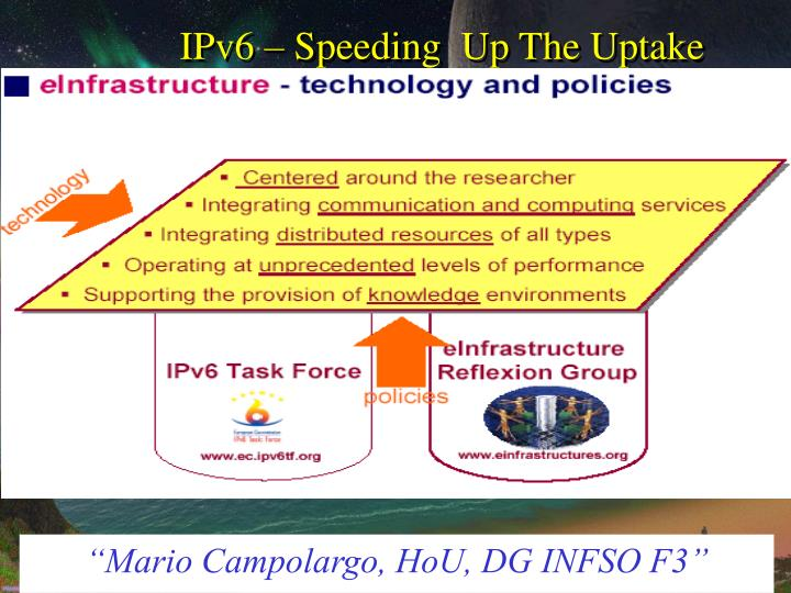 Ipv6 speeding up the uptake