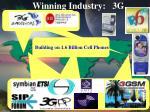 winning industry 3g