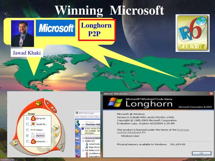 Winning  Microsoft