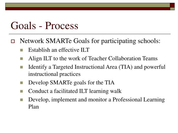 Goals - Process