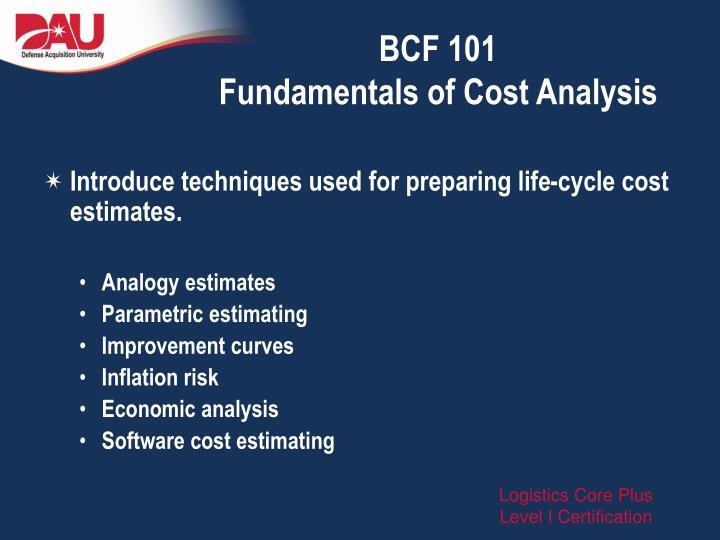 BCF 101