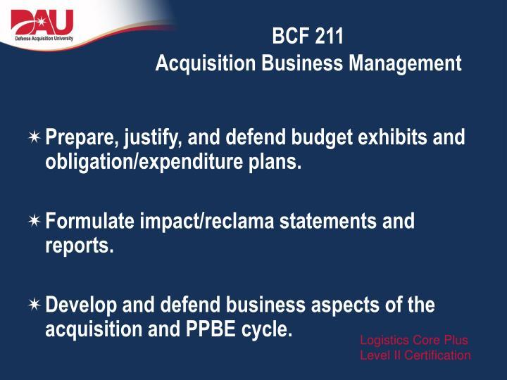 BCF 211