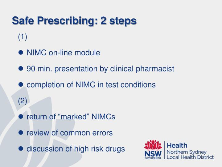 Safe Prescribing: 2 steps