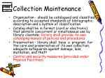 collection maintenance1