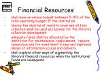 financial resources1