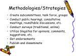 methodologies strategies