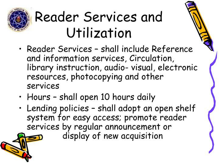 Reader Services and Utilization