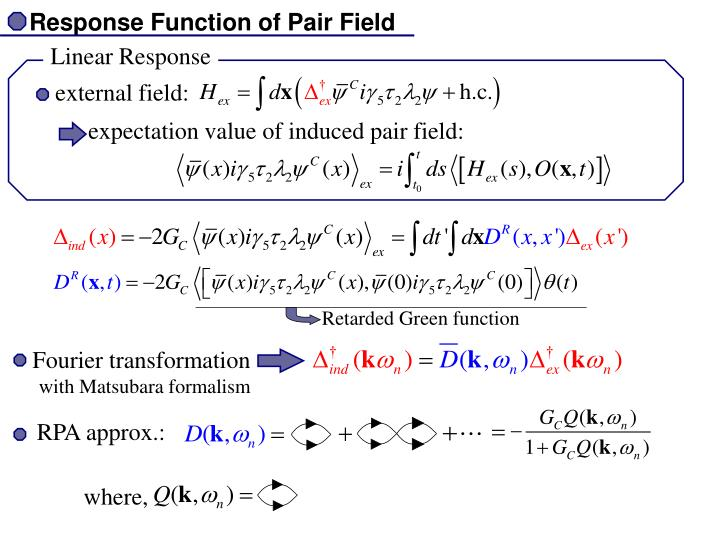 Response Function of Pair Field