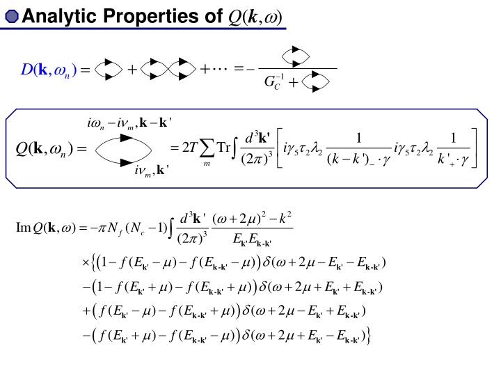 Analytic Properties of
