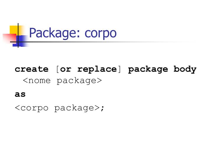 Package: corpo