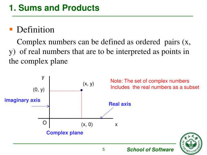 1. Sums and Products