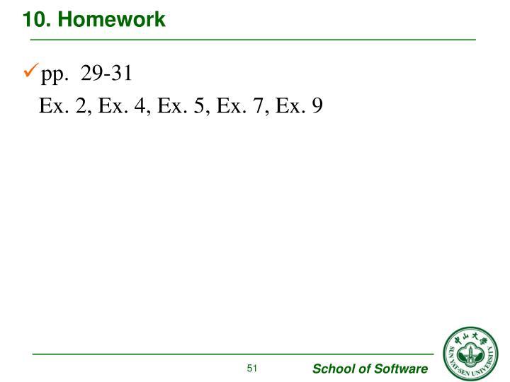 10. Homework