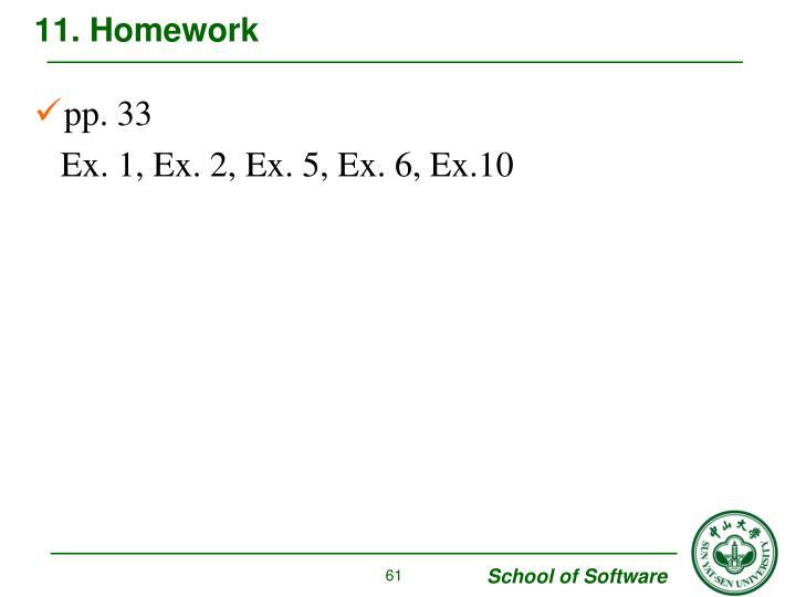 11. Homework