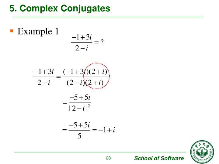 5. Complex Conjugates
