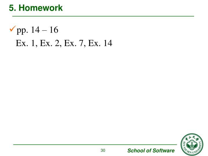 5. Homework