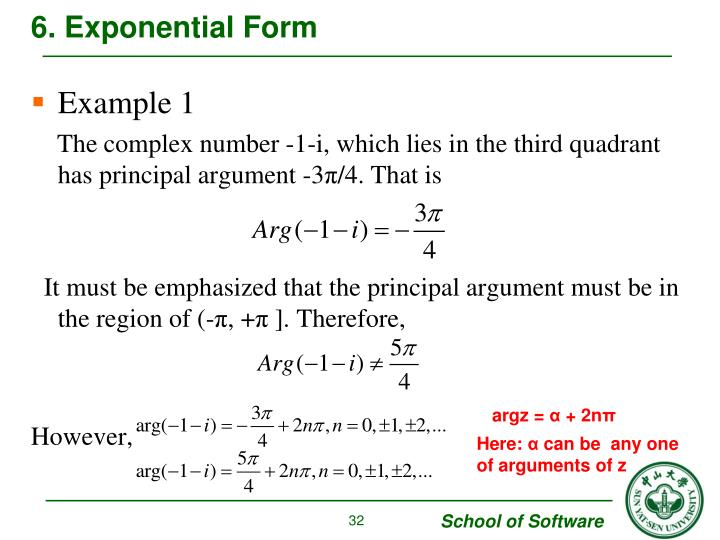 6. Exponential Form