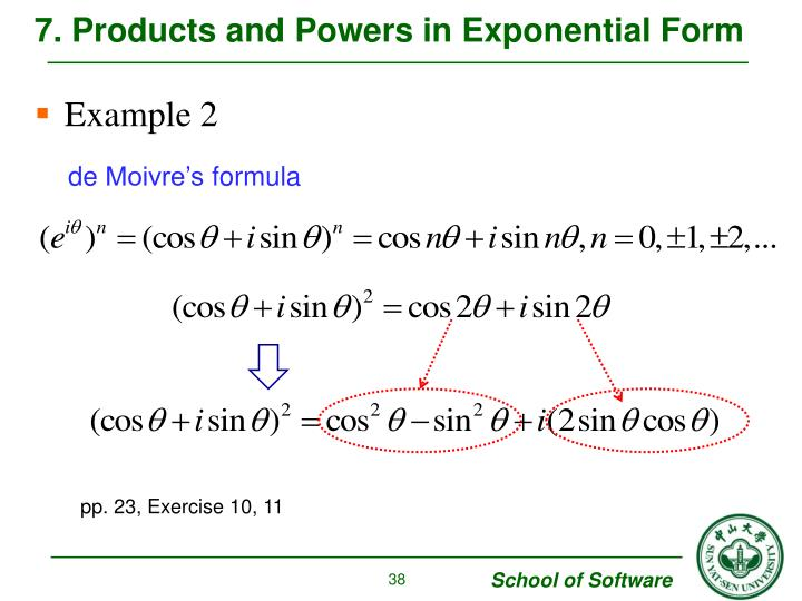 7. Products and Powers in Exponential Form