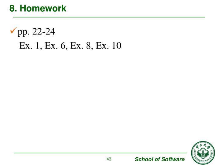 8. Homework