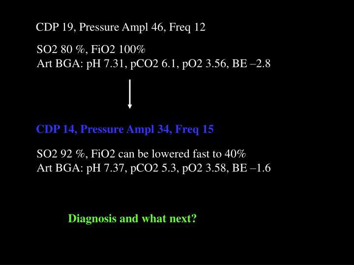 CDP 19, Pressure Ampl 46, Freq 12