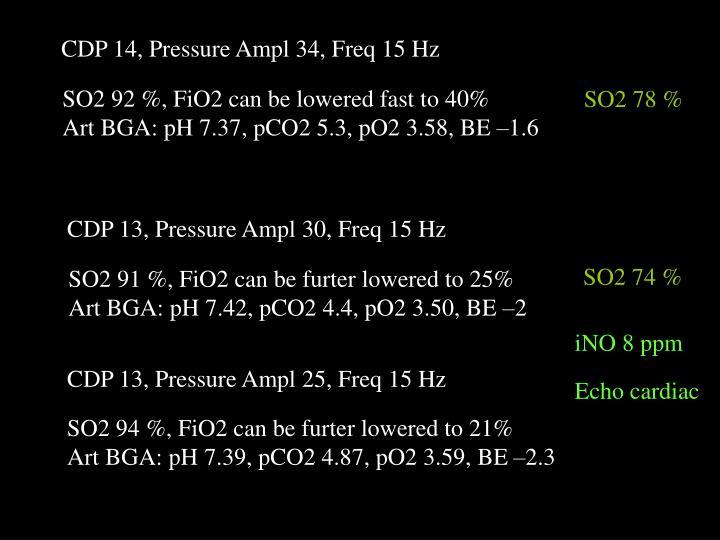 CDP 14, Pressure Ampl 34, Freq 15 Hz