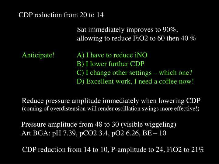 CDP reduction from 20 to 14