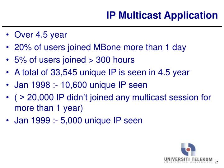 IP Multicast Application