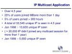 ip multicast application1