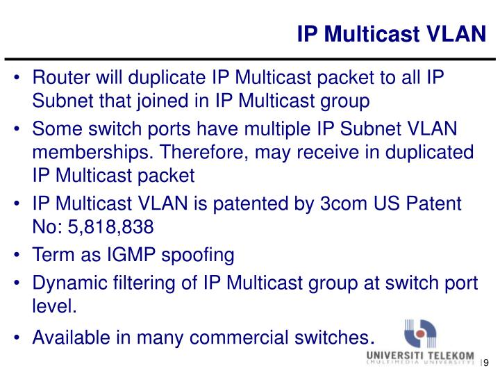 IP Multicast VLAN