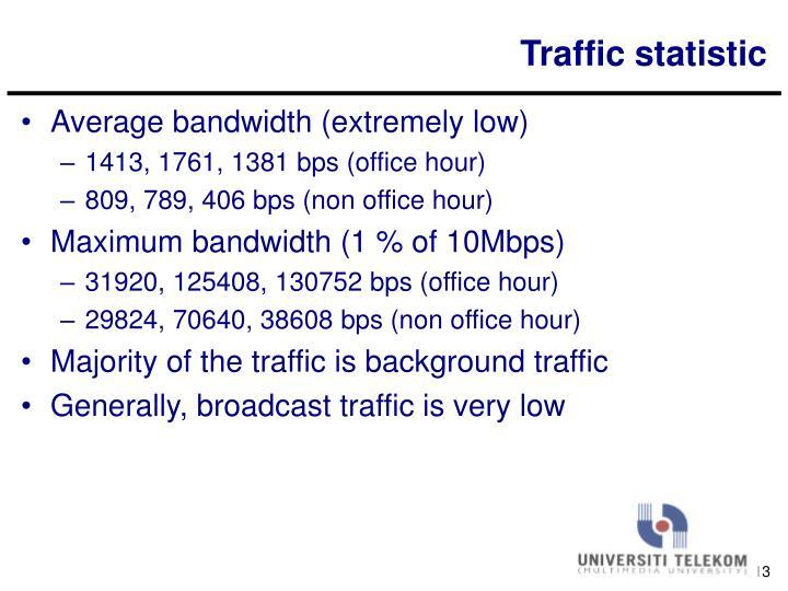 Traffic statistic