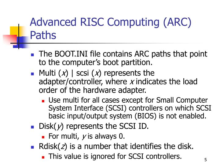 Advanced RISC Computing (ARC) Paths