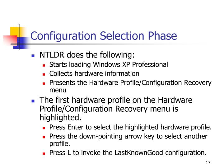 Configuration Selection Phase