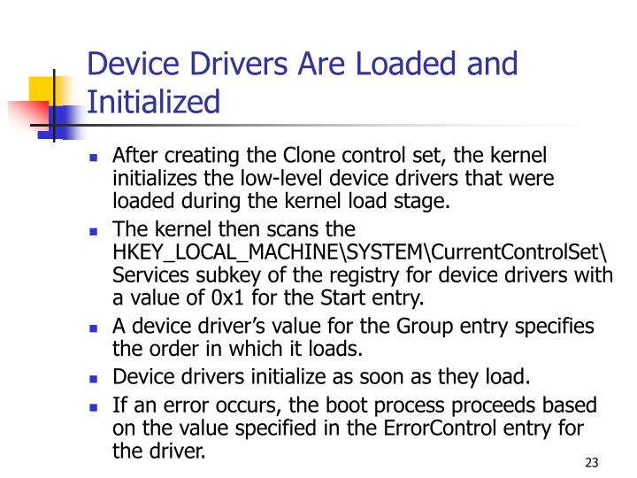 Device Drivers Are Loaded and Initialized