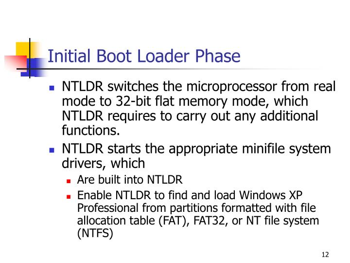 Initial Boot Loader Phase
