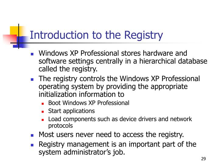 Introduction to the Registry