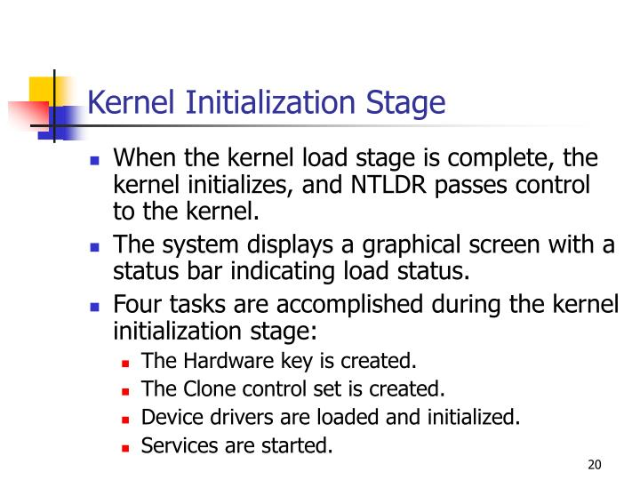 Kernel Initialization Stage