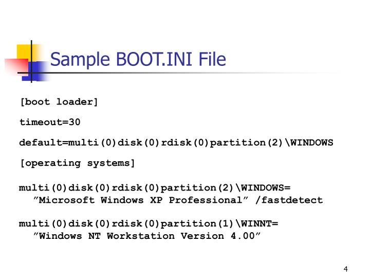 Sample BOOT.INI File