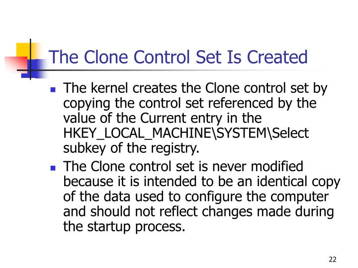 The Clone Control Set Is Created