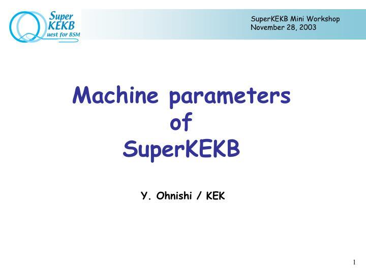 SuperKEKB Mini Workshop