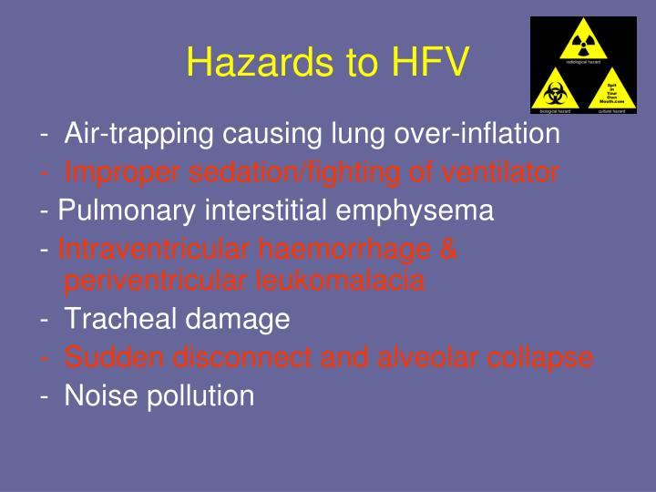 Hazards to HFV