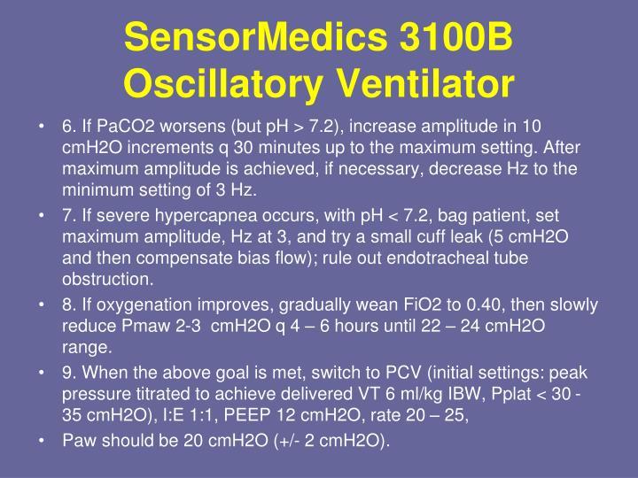 SensorMedics 3100B Oscillatory Ventilator