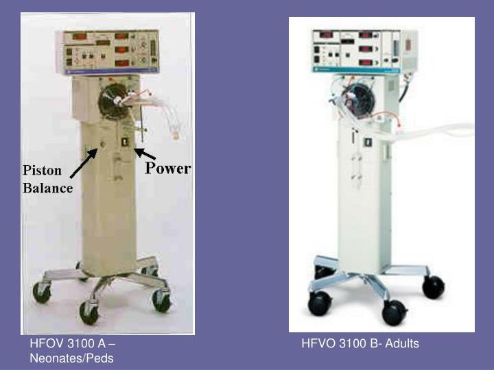 HFOV 3100 A – Neonates/Peds