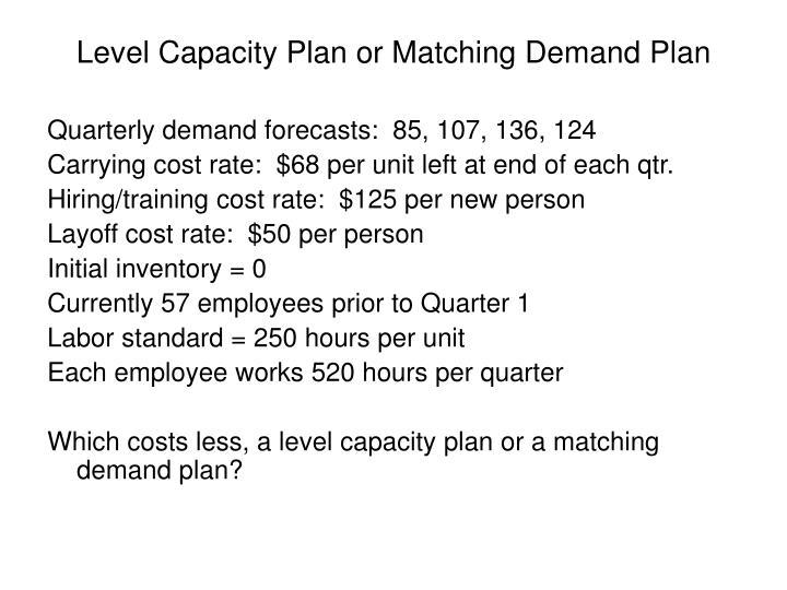 Level Capacity Plan or Matching Demand Plan