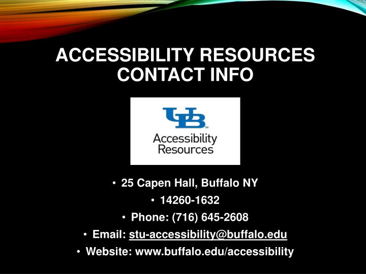Accessibility resources contact info