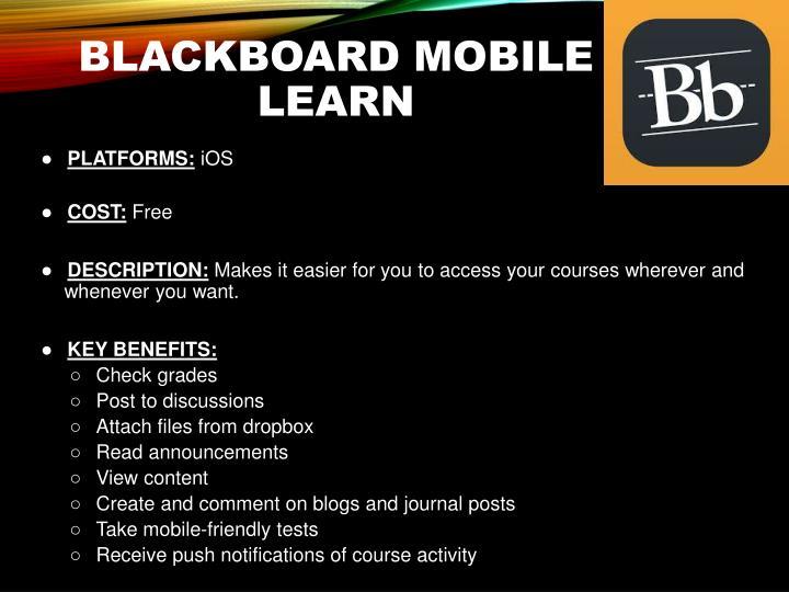 Blackboard Mobile