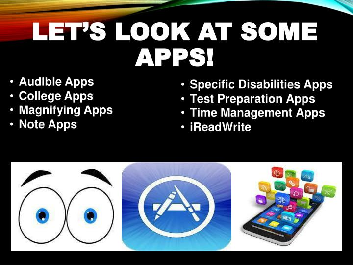 LET'S LOOK AT SOME APPS!